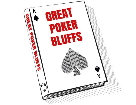BOOK WITH THE WORDS GREAT POKER BLUFFS ON THE COVER
