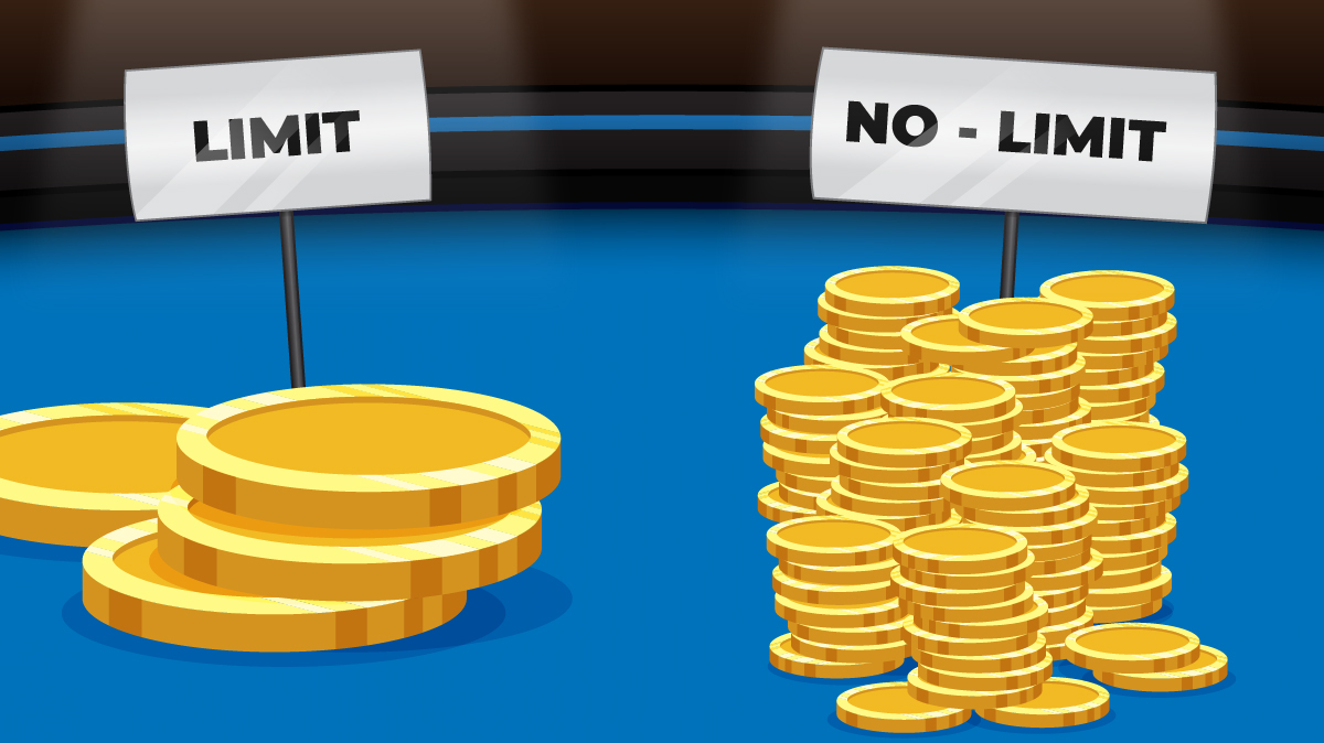 Only a few BIG coins on a limit table versus many full stacks of SMALLER coins on a no-limit table