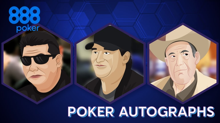 Poker players Autographs