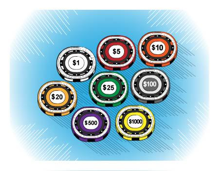 Poker Chip Values And Color Poker Chips Guide