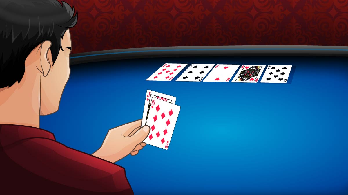poker player holding Jd10d