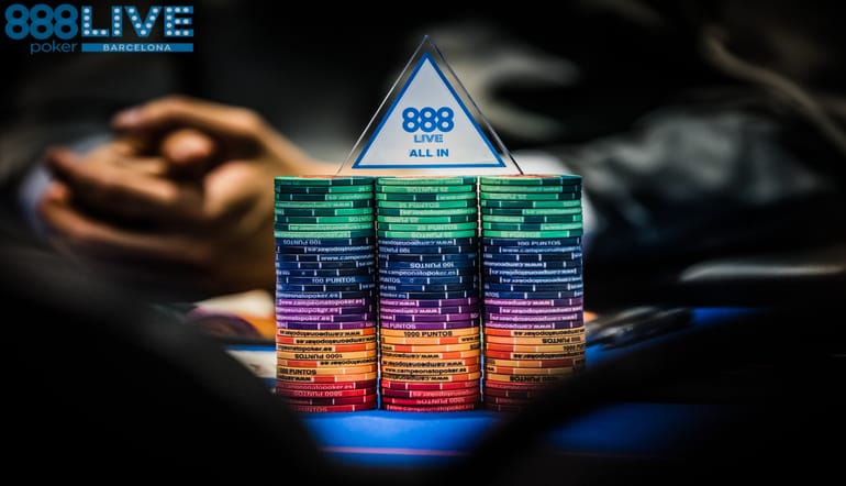 all in - live 888poker