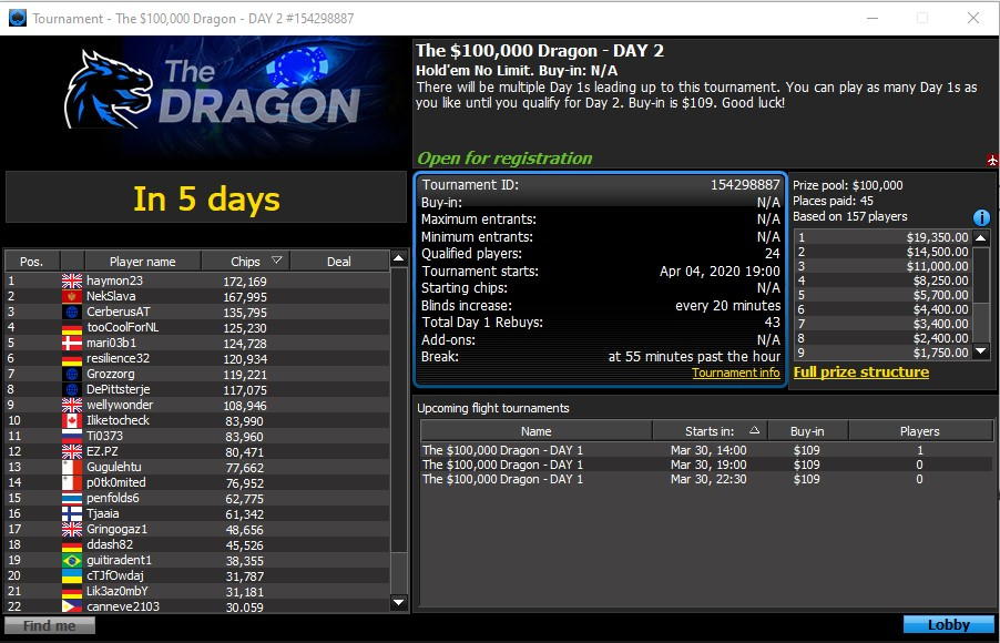 Snap Up a Seat to the $100K Dragon