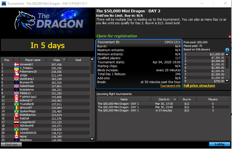 Snap Up a Seat to the $50K Dragon