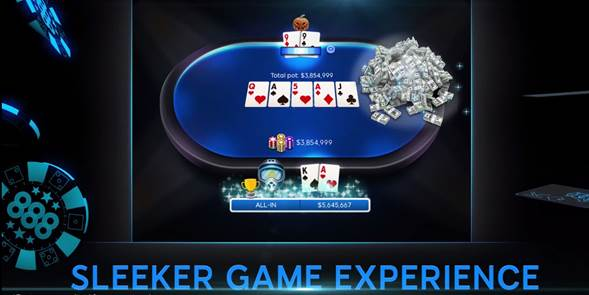 Sleeker game experience Poker 8