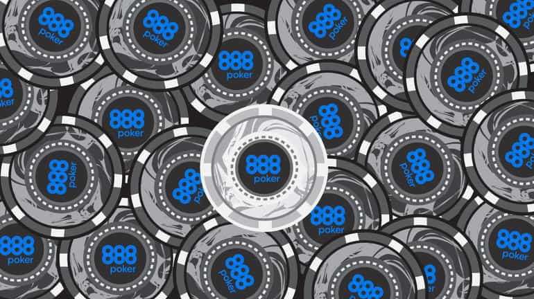 pile of black poker chips with a white chip in the middle