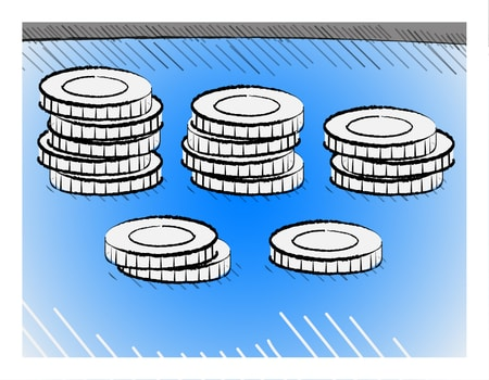 poker chips distribution