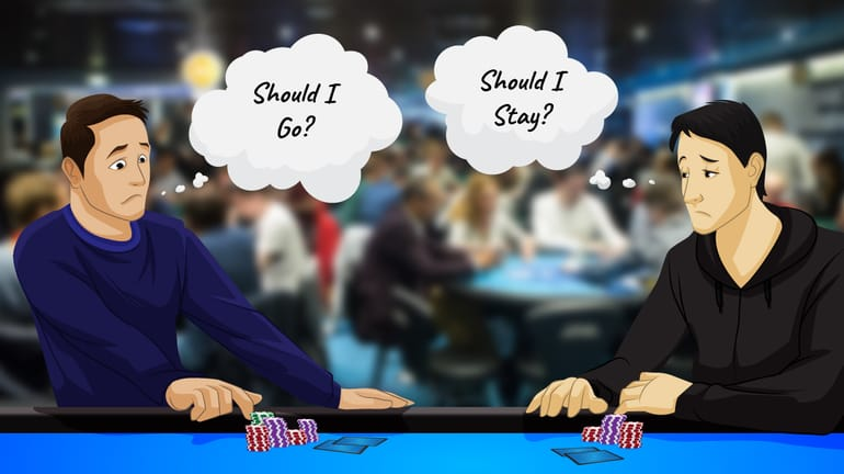 two poker players at the table