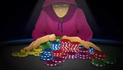 Poker player going all-in