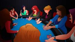 Ladies night playing poker