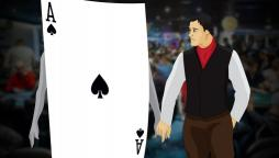 ACE holding hands with a poker player