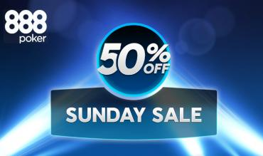 The Sunday Sale Slashes 888poker Sunday Majors with Up to 50% Off Buy-ins!