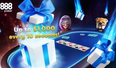 Made To Go Turbo Drops up to $1,000 every 10 Seconds at 888poker!