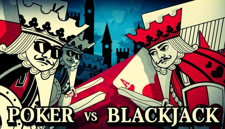 Is Poker a Better Game than Blackjack?