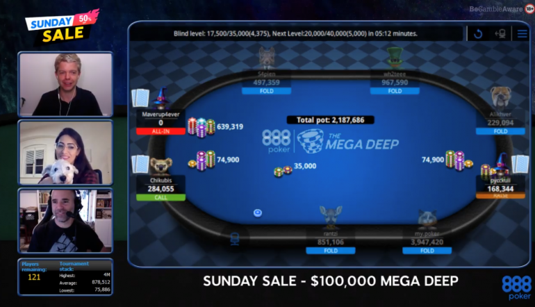 Sunday Sale Is a Resounding Success with Poker and Live Stream Action!