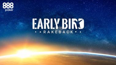 Early Bird 10% Rakeback Special Hits the Mark on 888poker Tables!