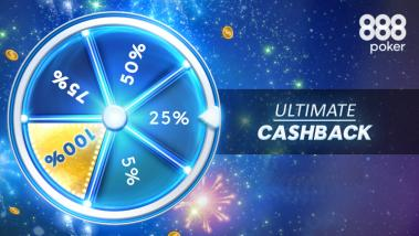 Win Cash with the 888poker Ultimate Cashback Promo