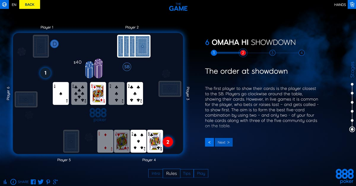 Omaha Hi - an Interactive Poker Guide by 888poker